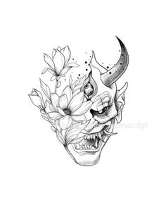 Hannya tattoo Two extremes Small Japanese Tattoo, Japanese Mask Tattoo, Japanese Tattoo Women, Japanese Tattoo Symbols, Japanese Tattoo Designs, Japanese Sleeve Tattoos, Sleeve Tattoos For Women, Women Sleeve, Tattoo Sleeves