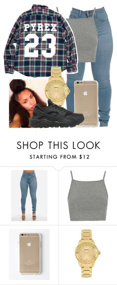 """PYREX 23"" by khanyajane on Polyvore featuring Topshop, Versus and NIKE"