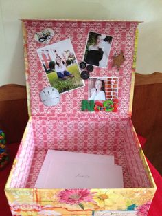 Box for graduation party cards
