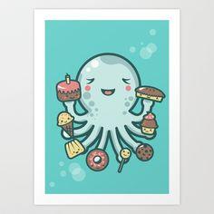 Room for Dessert? Art Print by Littleclyde