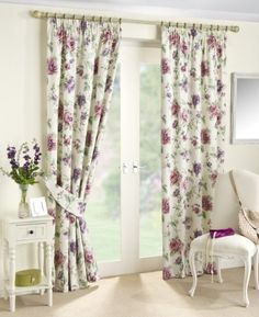 "Devon Ready Made Fully Lined Floral Trail Curtains (Rose, 64"" x 54"" (163cm x 137cm)) by Ahf, http://www.amazon.co.uk/dp/B00BATBITM/ref=cm_sw_r_pi_dp_sMBtrb1R1BVV0"