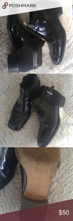 """Via spiga ankle booties 1"""" heel boot, buckle hardware on side and stretch ankle for easy slide in and comfortable fit. Comfortable and stylish for work attire or everyday wear. Italian leather. Great condition, no scuffs or scratches. Via Spiga Shoes Ankle Boots & Booties"""