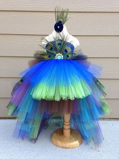 Peacock Tutu Costume Pageant Party Portrait Dress by BlissyCouture Cute Girl Costumes, Halloween Costumes For Girls, Little Princess, Peacock Tutu, Peacock Feathers, Peacock Halloween Costume, Bird Costume, Scarecrow Costume, Girls Pageant Dresses