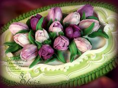 royal icing tulips