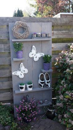 Wandbord voor in de tuin