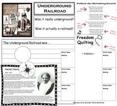 Underground Railroad Lapbook w/ foldables