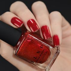 Stopping Traffic Fire Engine Red Holographic Nail Polish