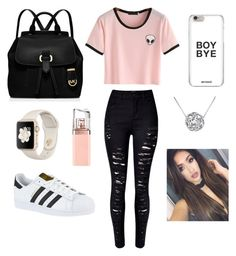 """School "" by ximenaordonez9 on Polyvore featuring WithChic, adidas, MICHAEL Michael Kors, MoMo and HUGO"