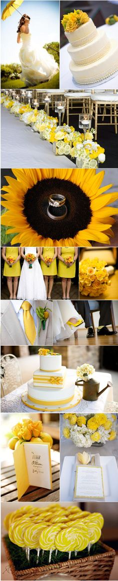If you're thinking of using yellow to add a splash of sunshine to your wedding, take inspiration from our yellow color palette