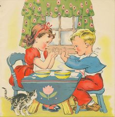 "Illustration from the children's book ""Mother Goose""; Retro Kids, Vintage Pictures, Vintage Images, Nursery Rhyme Characters, Saturday Images, Illustrations Vintage, Whimsical Nursery, Vintage Children's Books, Vintage Greeting Cards"