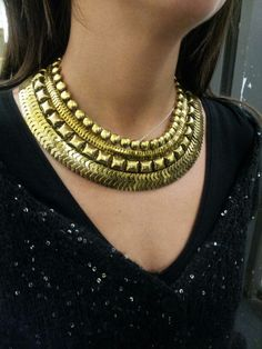 Our Fantastic new Tribal necklace. Go from drab to fab.