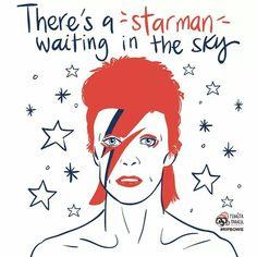 Pedrita Parker y David Bowie