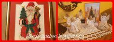HandmadeBoni: Święty Mikołaj z szydełkowymi aniołkami ze złotymi...