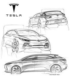 Tesla Model X, Swaroop Roy on ArtStation at https://www.artstation.com/artwork/tesla-model-x