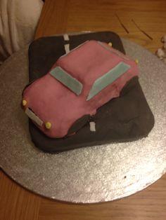 Pink Car 17th birthday cake