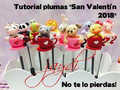 Amor y amistad. 14 de febrero. San Valentín. Plumas decoradas