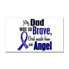 Angel 1 DAD Colon Cancer Rectangle Sticker