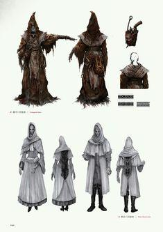 Bloodborne Concept Art, Bloodborne Art, Character Inspiration, Character Art, Character Design, Bloodborne Outfits, Dark Fantasy, Fantasy Art, Concept Art Landscape
