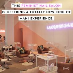 Watch this video to learn about Lacquerbar, a feminist nail salon offering a totally new kind of manicure and pedicure experience.