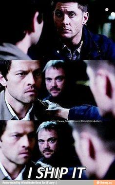 Destiel> Crowley ships it. Crowley writes the fanfictions.  We all know Crowley writes the fanficion