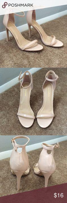 "Liliana Heels Women's Liliana open toe heels. Hook to Ankle strap missing but they still work. Great condition otherwise. 4.5"" heel. Liliana Shoes Heels"