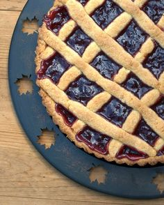Easy-Easy Jam Tart | food processor crust + jam = an amazing tart in 15 minutes! | Weight Watchers PointsPlus 7 | KitchenParade.com