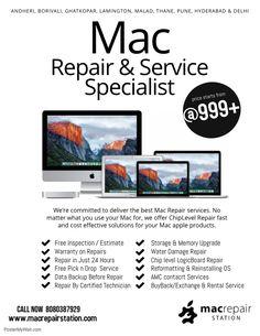 Copy of Mac Repair & Service Specialist Flyer Template Service Logo, Business Flyer, Business Card Design, Flyer Design, Web Design, Store Design, Logo Design, Apple Repair, Tips