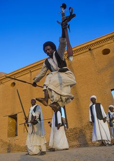 Beja Tribe Men Dancing In Front Of The Khatmiyah Mosque At The Base Of The Taka Mountains, Kassala, Sudan | Flickr - Photo Sharing!