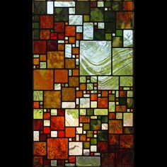 """""""September Sky"""" by Josephine A. Geiger. Leaded stained glass."""