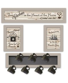 Trendy Decor Taupe Frame 32 In. X 10 In. Kitchen Collection Vi Vignette With Mug Rack By Millwork Engin Trendy Decor Taupe Frame 32 In. X 10 In. Kitchen Collection Vi Vignette With Mug Rack By Millwork Engin Frames On Wall, Framed Wall Art, Framed Prints, Wall Décor, Mug Rack, Wall Decor Set, Decorative Signs, Kitchen Collection, Brown Wood