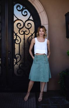 #OOTD #Friday #Fashion #Vibes   top - ZARA  skirt - vintage  shoes - Loeffler Randall