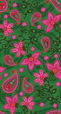 floral paisley textile design