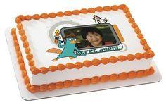 Disney's Phineas & Ferb Secret Agent Image Cake Cupcake Topper Custom + YOUR Child's Photo