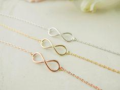 tiny infinity bracelet in gold / silver / rose gold by applelatte, $14.00