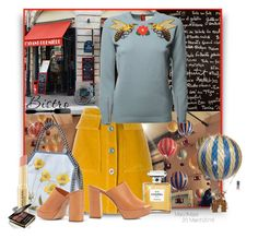 """""""Bistro"""" by octobermaze ❤ liked on Polyvore featuring MiH Jeans, Gucci, Chanel, STELLA McCARTNEY, Mansur Gavriel, Dot & Bo, Napoleon Perdis, StellaMcCartney and gucci"""