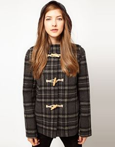 Fred Perry Checked Duffle Coat
