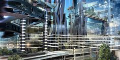 Futuristic Architecture HD Wallpaper