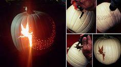 DIY Tinker Bell Pixie Dust Pumpkin Carving