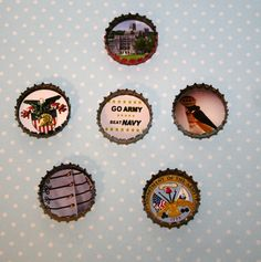 US Military Academy (West Point) Bottlecap Magnets