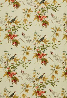Fabric | Early Spring in Aqua | Schumacher