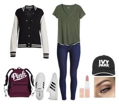 """Untitled #461"" by cuteadrin4vr on Polyvore featuring Levi's, Gap, adidas, Rimmel, Ivy Park and Marc Jacobs"