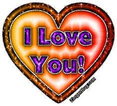 I Love You Red And Orange Heart With Purple Words Glitter Graphic Comment I Love You Images, Love You Gif, I Love You Baby, Love Pictures, Beautiful Images, Make Me Happy Quotes, Love Yourself Quotes, Gifs Ideas, Love Messages For Wife