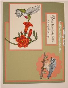Spring Song Gallery Index by galleryindex - Cards and Paper Crafts at Splitcoaststampers