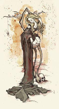 The Wood Witch by AbigailLarson.deviantart.com on @deviantART