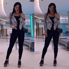 Luz Herrera tight pants Latina