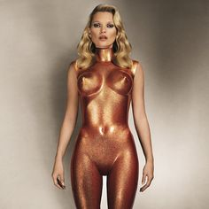 Allen Jones Sculpture de Kate Moss en bronze scintillant 2013