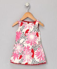 Love this Pink Floral Pom-Pom Dress - Infant, Toddler & Girls by Jen Jen on #zulily! #zulilyfinds