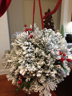 Make this beautiful Christmas DIY Kissing Ball using our polystyrene / styrofoam ball. Hang it from the ceiling to make an affordable DIY Xmas decoration for your home, shop, restaurant, hotel or for a Christmassy window display. Plenty of Christmas inspiration and supplies available at www.craftmill.co.uk