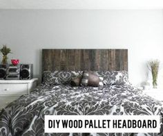 DIY Wood Pallet Headboard #Christmas #thanksgiving #Holiday #quote