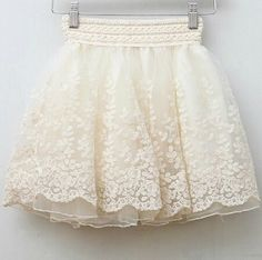 skirt new 2014 saia korean full lace embroidery tulle skirt Mini skirts fashion women lace skirts basic White Lace Skirt, White Skirts, Skirt Mini, Mini Skirts, Tutu Skirts, Skater Skirt, Puffy Skirt, Skirt Pleated, Denim Skirt